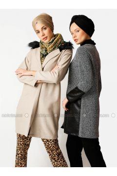 Cream - Unlined - Cotton - Topcoat - Meryem Acar(110332637)