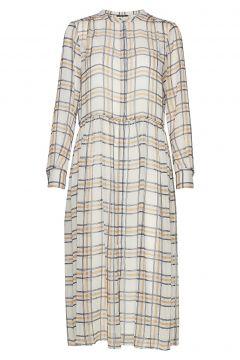 Check Ollie Dress Kleid Knielang Creme BRUUNS BAZAAR(114164669)