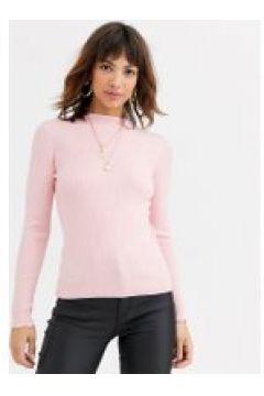 Warehouse - Maglione rosa con scollo a imbuto(120358227)