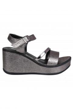 Guja 20y409-4 Dolgu Topuk Gri Kadın Topuklu Ayakkabı(116841349)