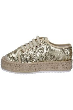 Chaussures Francescomilano sneakers platine textile paillettes BS77(115443035)