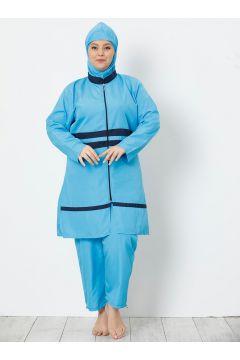 Maillot De Bain Grande Taille AKBENİZ Bleu Marine / Turquoise(119070873)