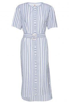 Striped Casey Long Kleid Knielang Blau BECKSÖNDERGAARD(118485454)