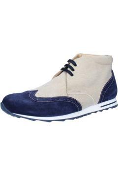 Boots Gold Brothers bottines beige textile bleu daim BZ134(115394376)