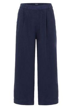 PIECES Mid Waist Culottes Damen Blau(110904638)