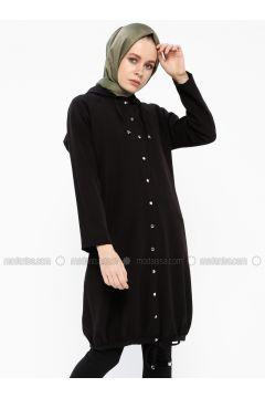 Black - Unlined - Topcoat - İroni(110339008)