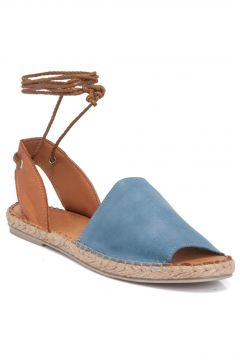 Tergan Mavi-taba Deri Kadın Sandalet 64430o6o(122457001)