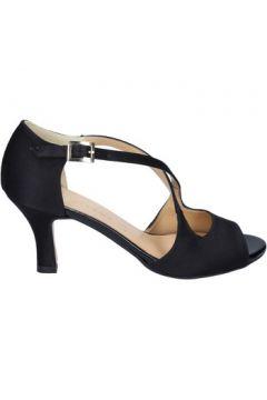 Sandales Olga Rubini sandales noir satin BS120(115443086)