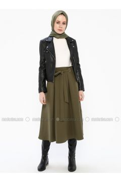 Khaki - Unlined - Skirt - İroni(110338995)