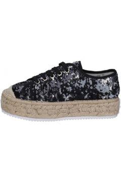 Baskets Francescomilano sneakers noir textile paillettes BS76(115443033)