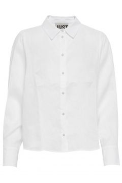 Linneda Shirt Langärmliges Hemd Weiß JUST FEMALE(108839078)