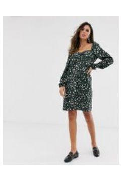 Vila - Kleid mit eckigem Ausschnitt und Leopardenmuster - Mehrfarbig(95032327)