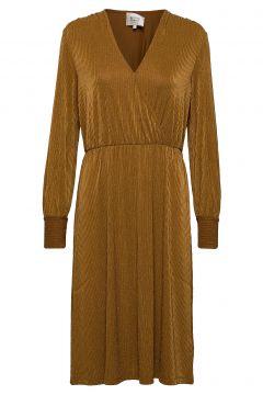 Zeta Dress Kleid Knielang Gelb SECOND FEMALE(114164243)