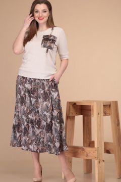 Комплект юбочный Danaida 1870 молочный с коричневым(117354771)