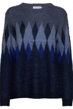 Knit W. Harlequin Pattern Strickpullover Blau COSTER COPENHAGEN(114151789)
