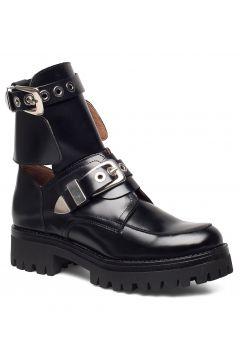 Melanie High Shine Black Shoes Boots Ankle Boots Ankle Boots Flat Heel Schwarz HENRY KOLE(114159966)