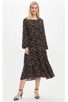 DeFacto Kadın Kolları Lastikli Dokuma Elbise(119060962)