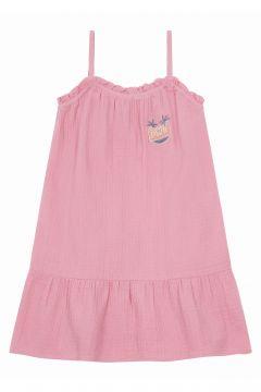 Langes Kleid aus Baumwollgaze(117293871)