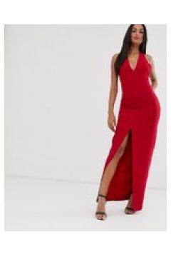 Vesper - Vestito lungo con fiocco sul retro-Rosso(120327435)