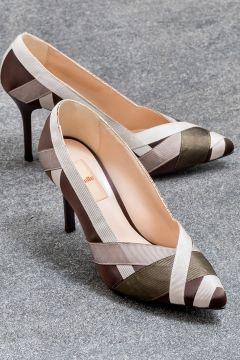 Elle Shoes ELISHAA Kahverengi Kadın Topuklu Ayakkabı(121272833)