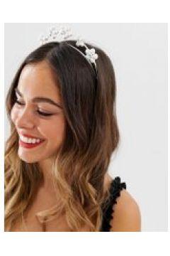 ASOS DESIGN - Silberner Haarreif mit hübschen Gänseblümchen - Silber(95029877)