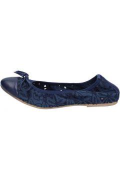 Ballerines Crown ballerines bleu textile cuir BZ947(115399272)