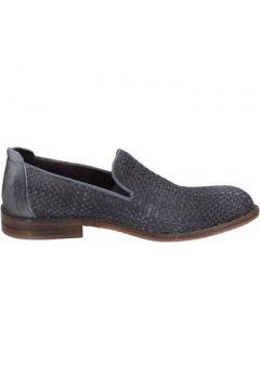 Chaussures Evc slip on mocassins gris cuir BS02(115442993)