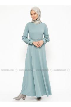 Green Almond - Crew neck - Unlined - Dresses - Laruj(110319693)