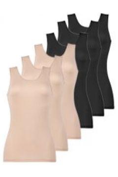 6er Sparpack Damen Unterhemd Naturana Schwarz-Skin(111513114)