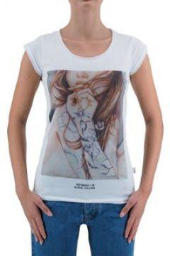 T-shirt Ko Samui Tailors T-Shirt encre violette blanc KSUTB439PURPL(127969008)