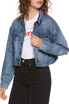 Veste Levi\'s Crop Dad Trucker - Dad Tom(111324709)