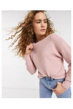 Warehouse - Maglione squadrato testurizzato rosa(120358547)