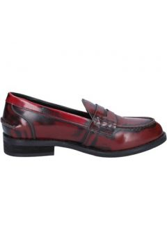 Chaussures Francescomilano mocassins bordeaux cuir BX329(115442526)