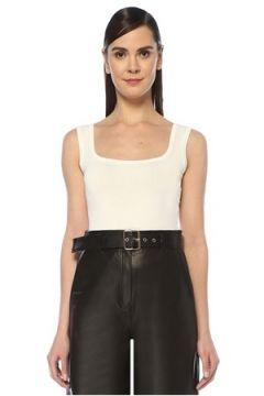 Beymen Collection Kadın Beyaz Kare Yaka Çelik Örgü Triko Body M(108010458)