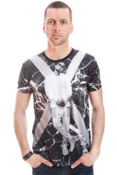 T-shirt Gov Denim Tshirt Motif Rappeur 11457-103-BK(115432194)