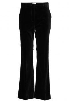 Vega Mw Trousers Hosen Mit Weitem Bein Schwarz SECOND FEMALE(114153581)