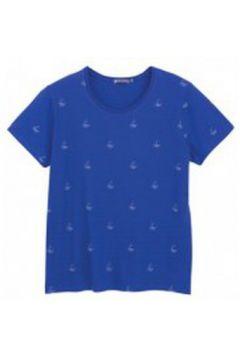 T-shirt Petit Bateau Tee shirt MC 3433448220 Bleu(115471145)