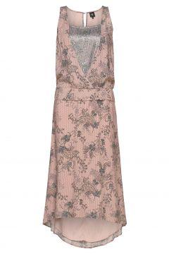 Delia Dress Kleid Knielang Pink NÜ DENMARK(116997379)