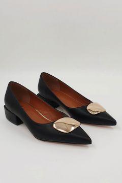 Marjin Kadın Siyah Linva Günlük Klasik Topuklu Ayakkabı(123143704)