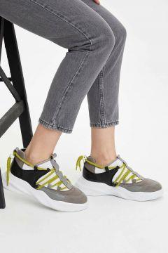 DeFacto Kadın Kalın Tabanlı Bağcıklı Spor Ayakkabı(108988552)