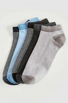 Erkek Desenli Patik Çorap 5\'li(127030797)