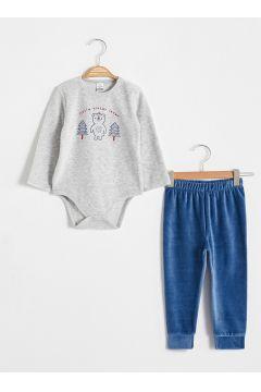 Bebek Erkek Bebek Baskılı Pijama Takımı(127067562)