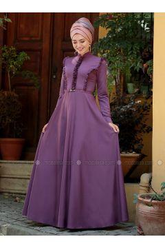 Dusty Rose - Crew neck - Fully Lined - Dresses - Gamze Özkul(110316549)