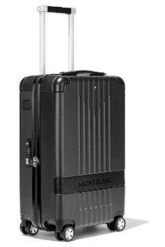 Montblanc Erkek Siyah Çizgi Dokulu Kabin Boy Bavul EU(113466385)