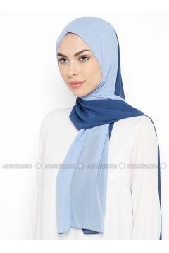 Blue - Plain - Shawl - GINA LOREN(110335056)