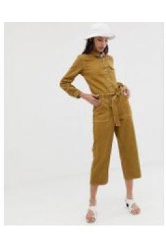 Northmore Denim - Utility-Jumpsuit mit weitem Bein aus Bio-Baumwolle - Bronze(86697545)