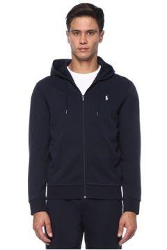 Polo Ralph Lauren Erkek Lacivert Kapüşonlu Logo İşlemeli Sweatshirt S EU(121108342)