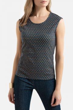 Camiseta con cuello redondo, 100% algodón(116636605)
