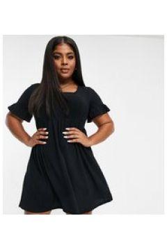 Yours - Vestito grembiule corto nero con scollo quadrato(124801824)