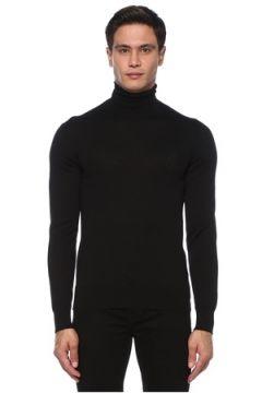 Dolce&Gabbana Erkek Siyah Balıkçı Yaka Yün Kazak 46 IT(121612790)